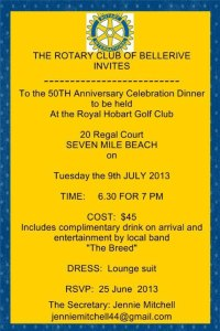 Bellerive Rotary Club Dinner
